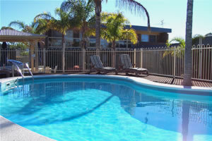 The pool at Chapman Court Merimbula apartments